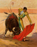 Texas:Early Texas Art - Regionalists, PORFIRIO SALINAS (American, 1910-1973). Matador, 1956. Oilon canvas. 20 x 16 inches (50.8 x 40.6 cm). Signed and dated ...