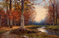 Texas:Early Texas Art - Regionalists, ROBERT WILLIAM WOOD (American, 1889-1979). Autumn in Woodstock,N.Y.. Oil on canvas. 24 x 36 inches (61.0 x 91.4 cm). Si...