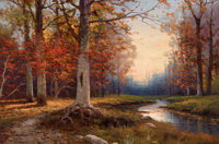 ROBERT WILLIAM WOOD (American, 1889-1979) Autumn in Woodstock, N.Y. Oil on canvas 24 x 36 inches