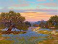 Texas:Early Texas Art - Regionalists, WILLIAM A. SLAUGHTER (American, 1923-2003). Texas Sunset.Oil on canvas. 30 x 40 inches (76.2 x 101.6 cm). Signed lower ...