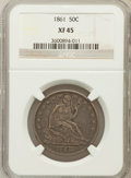 Seated Half Dollars: , 1861 50C XF45 NGC. NGC Census: (19/344). PCGS Population (50/363).Mintage: 2,888,400. Numismedia Wsl. Price for problem fr...