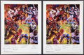 Football Collectibles:Others, NFL Legends Multi Signed Posters Lot of 2. ...