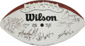 Football Collectibles:Balls, 1995 AFC Pro Bowl Team Signed Football....