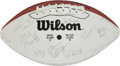 Football Collectibles:Balls, 1992 AFC Pro Bowl Team Signed Football....