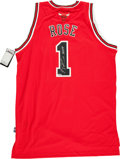 Basketball Collectibles:Uniforms, Derrick Rose Signed Chicago Bulls Jersey. ...