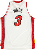 Basketball Collectibles:Uniforms, Dwayne Wade Signed Miami Heat Jersey. ...