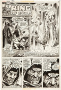 Original Comic Art:Panel Pages, Vincent Alcazar and Yong Montano Conan Annual #2 Page 15 Original Art (Marvel, 1976)....