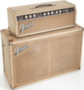 Musical Instruments:Amplifiers, PA, & Effects, Circa 1963 Fender Tremolux Blonde Guitar Amplifier Head and Cabinet, Serial # 05103....