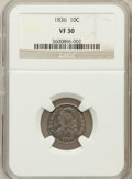 Bust Dimes: , 1836 10C VF30 NGC. NGC Census: (7/192). PCGS Population (13/220).Mintage: 1,190,000. Numismedia Wsl. Price for problem fre...