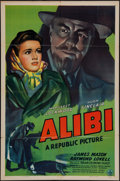"Movie Posters:Mystery, Alibi (Republic, 1943). One Sheet (27"" X 41""). Mystery.. ..."