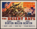 "Movie Posters:War, The Desert Rats (20th Century Fox, 1953). Half Sheet (22"" X 28"").War.. ..."