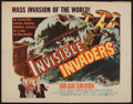"Movie Posters:Science Fiction, Invisible Invaders (United Artists, 1959). Half Sheet (22"" X 28"").Science Fiction.. ..."