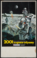 "Movie Posters:Science Fiction, 2001: A Space Odyssey (MGM, 1968). Cinerama Midget Window Card (9""X 14.5""). Science Fiction.. ..."
