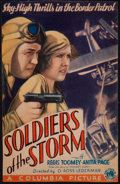 "Movie Posters:Adventure, Soldiers of the Storm (Columbia, 1933). Trimmed Midget Window Card(7.5"" X 11.5""). Adventure.. ..."