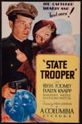 "Movie Posters:Crime, State Trooper (Columbia, 1933). Trimmed Midget Window Card (7.25"" X11.25""). Crime.. ..."