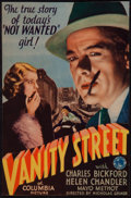 "Movie Posters:Crime, Vanity Street (Columbia, 1932). Trimmed Midget Window Card (8"" X14""). Crime.. ..."