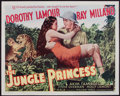 "Movie Posters:Adventure, The Jungle Princess & Other Lot (Paramount, R-1946). Half Sheet(22"" X 28"") & Lobby Card (11"" X 14"") Style B. Adventure.. ...(Total: 2 Items)"