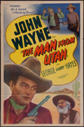 "Movie Posters:Western, The Man from Utah & Other Lot (Lone Star, R-1940s). One Sheet (27"" X 41"") & Lobby Card (11"" X 14""). Western.. ... (Total: 2 Items)"