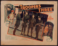 """Movie Posters:Action, Troopers Three (Tiffany, 1930). Half Sheet (22"""" X 28""""). Action.. ..."""