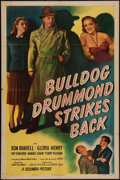 "Movie Posters:Mystery, Bulldog Drummond Strikes Back (Columbia, 1947). One Sheet (27"" X41""). Mystery.. ..."
