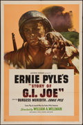 "Movie Posters:War, The Story of G.I. Joe (United Artists, 1945). One Sheet (27"" X41""). War.. ..."