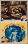 "Movie Posters:Fantasy, The Horn Blows at Midnight and Other Lot (Warner Brothers, 1945).Lobby Cards (2) (11"" X 14""). Fantasy.. ... (Total: 2 Items)"
