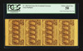 Fractional Currency:First Issue, Fr. 1281 25¢ First Issue Vertical Strip of Four PCGS Choice AboutNew 58.. ...