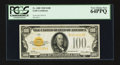 Small Size:Gold Certificates, Fr. 2405 $100 1928 Gold Certificate. PCGS Very Choice New 64PPQ.. ...