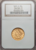 Liberty Half Eagles: , 1902-S $5 MS62 NGC. NGC Census: (613/1180). PCGS Population(513/1192). Mintage: 939,000. Numismedia Wsl. Price for problem...