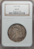 Bust Half Dollars: , 1813 50C AU53 NGC. NGC Census: (35/488). PCGS Population (46/204).Mintage: 1,241,903. Numismedia Wsl. Price for problem fr...