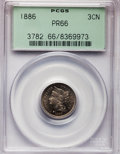 Proof Three Cent Nickels: , 1886 3CN PR66 PCGS. PCGS Population (220/48). NGC Census: (221/35).Mintage: 4,290. Numismedia Wsl. Price for problem free ...