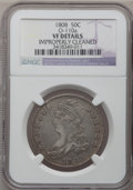 Bust Half Dollars: , 1808 50C -- Improperly Cleaned -- NGC Details. VF. O-110a. NGCCensus: (17/402). PCGS Population (30/520). Mintage: 1,368,...