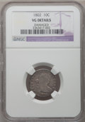 Early Dimes, 1802 10C -- Damaged -- NGC Details. VG. Mintage: 10,975.(#4472.30)...