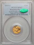 Commemorative Gold: , 1915-S G$1 Panama-Pacific Gold Dollar MS62 PCGS. CAC. Ex: TeichFamily Collection. PCGS Population (428/4628). NGC Census: ...