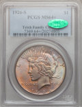 Peace Dollars: , 1926-S $1 MS64+ PCGS. CAC. Ex: Teich Family Collection. PCGSPopulation (1993/661). NGC Census: (1747/426). Mintage: 6,980,...