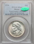 Commemorative Silver: , 1934 50C Boone MS66 PCGS. CAC. Ex: Teich Family Collection. PCGSPopulation (216/32). NGC Census: (172/22). Mintage: 10,007...