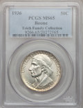 Commemorative Silver: , 1936 50C Boone MS65 PCGS. Ex: Teich Family Collection. PCGSPopulation (733/377). NGC Census: (571/301). Mintage: 12,012. N...