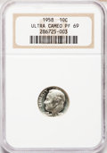Proof Roosevelt Dimes: , 1958 10C PR69 Ultra Cameo NGC. NGC Census: (10/0). PCGS Population(2/0). Numismedia Wsl. Price for problem free NGC/PCGS ...
