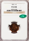 Proof Indian Cents: , 1872 1C PR63 Red and Brown NGC. CAC. NGC Census: (32/218). PCGS Population (38/194). Mintage: 950. Numismedia Wsl. Price fo...