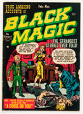 Golden Age (1938-1955):Horror, Black Magic #3 (Prize, 1951) Condition: VG....