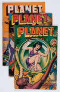 Golden Age (1938-1955):Science Fiction, Planet Comics Group (Fiction House, 1946-47).... (Total: 4 ComicBooks)