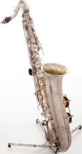 Musical Instruments:Horns & Wind Instruments, ?Bandmaster Silver Tenor Saxophone, Serial # 117919. ...