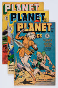 Golden Age (1938-1955):Science Fiction, Planet Comics #55, 57, and 60 Group (Fiction House, 1948-49)....(Total: 3 Comic Books)