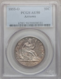 Seated Half Dollars: , 1855-O 50C Arrows AU50 PCGS. PCGS Population (43/311). NGC Census:(21/344). Mintage: 3,688,000. Numismedia Wsl. Price for ...