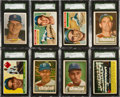 Baseball Cards:Lots, 1952 Through 1966 Topps Brooklyn & Los Angeles DodgersCollection (34)....