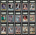 Baseball Cards:Sets, 1991 Topps Desert Shield SGC-Graded Complete Set (792). ...
