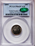 Proof Barber Dimes: , 1895 10C PR62 Cameo PCGS. CAC. Ex: Teich Family Collection. PCGSPopulation (2/54). NGC Census: (0/47). (#84879)...