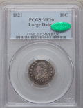 Bust Dimes: , 1821 10C Large Date VF20 PCGS. CAC. PCGS Population (15/209). NGCCensus: (5/205). Mintage: 1,186,512. Numismedia Wsl. Pric...