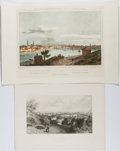 Books:Prints & Leaves, Group of Two Prints Related to Rhode Island, One Nineteenth-CenturyEngraved and One Color Reproduction. Largest approx. 11....