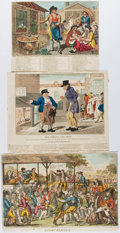 Books:Prints & Leaves, Group of Three Nineteenth-Century Hand-Colored Prints. Largestapprox. 8.75 x 11 inches. Very good....